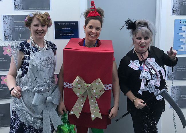 Pathology Admin Team in Christmas fancy dress-(2017)