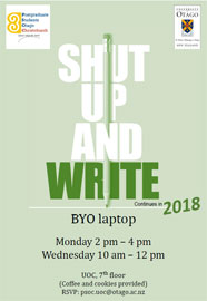 poster - Shut up and Write