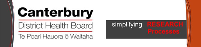 Canterbury District Health Board Research banner