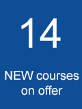 14 New courses on offer