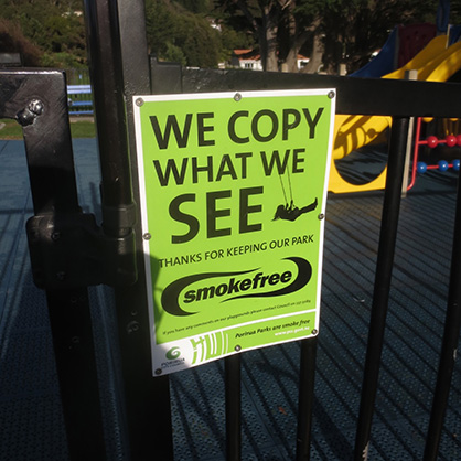 Porirua city smokefree sign