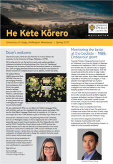 He Kete Korero - 2017 Spring full front page