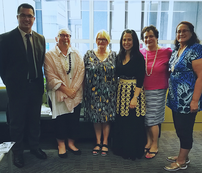 Dianne Sika-Paotonu and staff members of University of Otago, Wellington