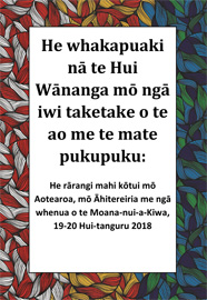Cancer symposium declaration thumbnail - Te Reo
