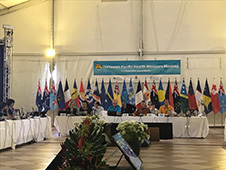 Cancer Control in SIDS launch at the Pacific Ministers of Health meeting 2019