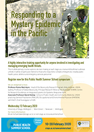 Responding to a Mystery Epidemic in the Pacific flyer