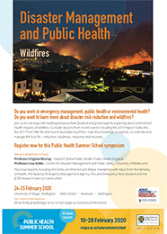 Disaster Management and Public Health flyer