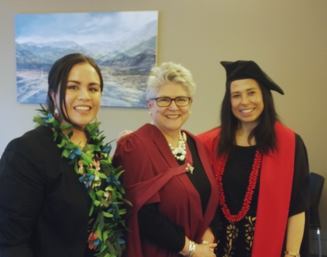 Ms Sophie Papali'i, Professor Dawn Elder and Dr Dianne Sika-Paotonu