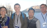 Picture of Nikki Moreland, James Ussher, Htin Ling Aung and Kurt Krause at QMB Queenstown NZ August 2015