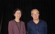 Picture of Dr Nikki Moreland (Auckland University) and Professor Greg Cook (Otago University) organisers of the QMB ID 2017 meeting