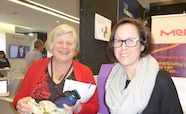 Picture of Dr Michelle McConnell (Otago University) and Debbie Williamson (Doherty Institute) at the QMB ID 2017 meeting