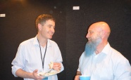 Picture of Dr James Ussher (Otago University) and Professor Simon Swift (Auckland University) at the QMB ID 2017 meeting