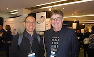 Picture of Professor Alpha Yap (Institute for Molecular Bioscience, Queensland University) and Professor Peter Shepherd organiser of Queenstown Research Week (Auckland University) at the QMB ID 2017 meeting