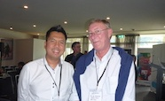 Picture of Dr Htin-Lin-Aung (Otago University) and Professor John Blanchard (Albert Einstein College of Medicine, USA) at the QMB ID 2017 meeting