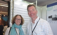 Picture of Professor Elizabeth Hartland (University of Melbourne) and Associate Professor Tim Stinear (Doherty Institute) at the QMB ID 2017 meeting
