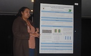 Picture of Dr Bhamini Rangnekar (Otago University) who was awarded a premier poster prize at the QMB ID 2017 meeting