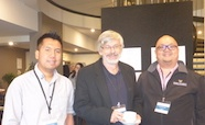 Picture of Dr Htin-Lin-Aung, Professor Andrew Mercer (both Otago University) and Dr Richard Fong (Massey University) at the QMB ID 2017 meeting