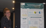 Picture of Dr Mel Knottenbelt (Otago University) who was awarded a poster prize at the QMB ID 2017 meeting  at the QMB ID 2017 meeting