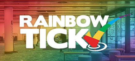 Rainbow Tick logo