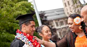 Pacific Island student at graduation