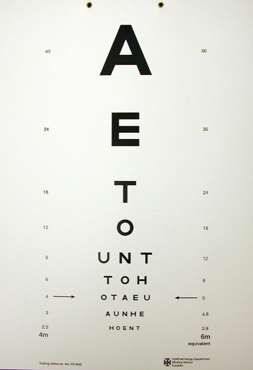 Visual acuity test chart catalogue, Eye chart store