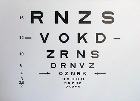 Visual Acuity Test Chart Catalogue Eye Chart Store University Of