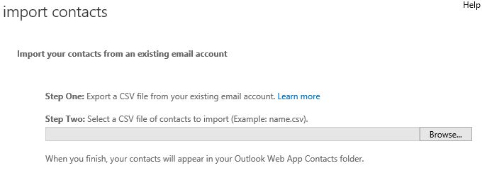 Import Contacts into StudentMail