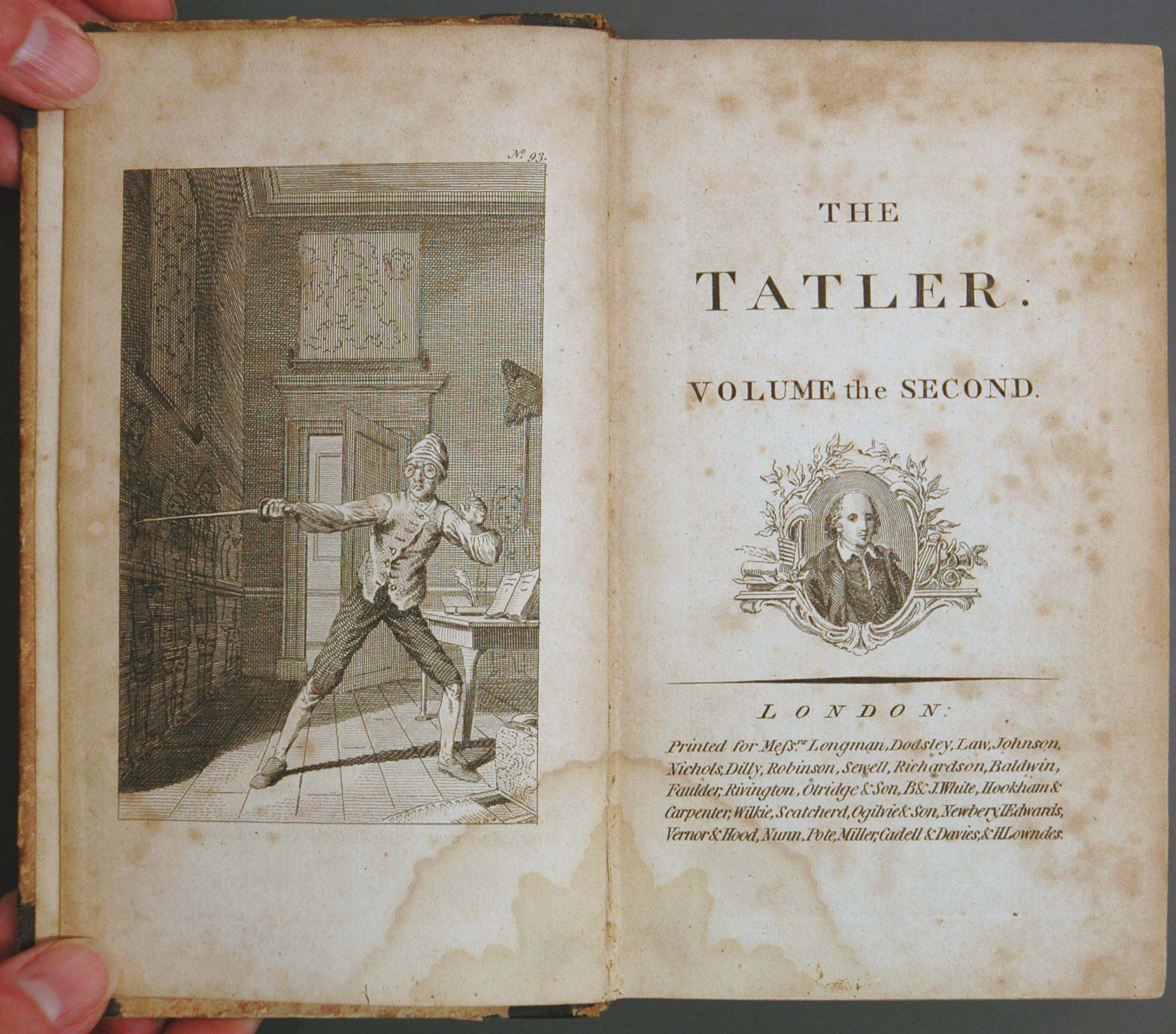 cabinet periodicals a quick stab at the eighteenth century tatler richard steele s