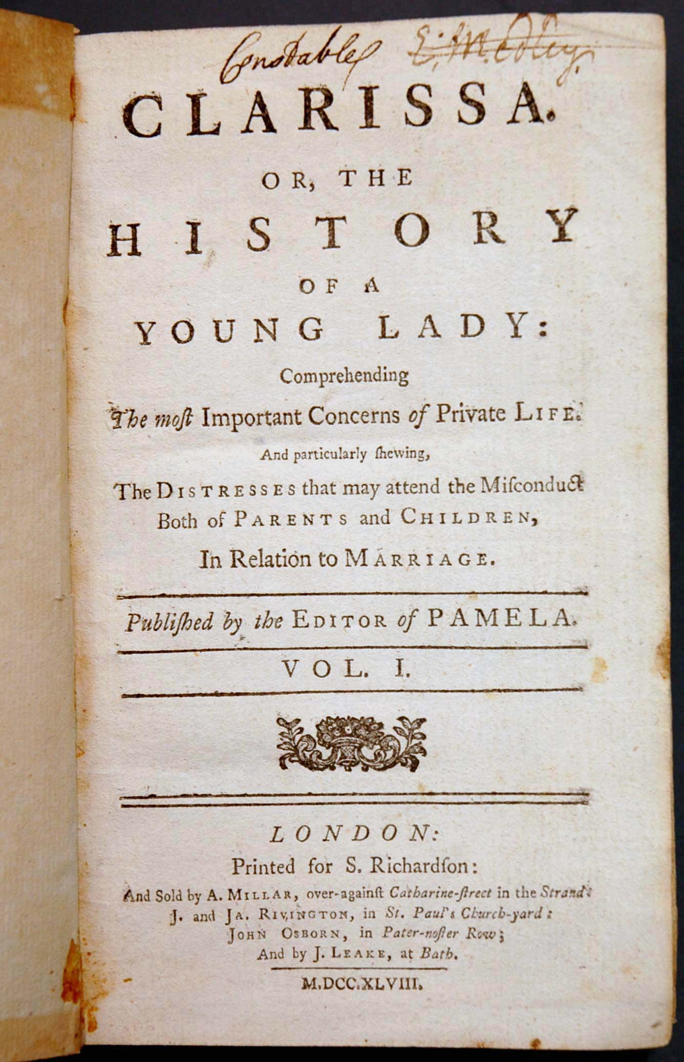 an analysis of the epistolary novel clarissa by samuel richardson A general summary the novel starts showing us the situation of pamela, an educated and polite fifteen years-old maid, whose lady has just died  pamelaor virtue rewarded, by samuel richardson posted on 16 january, 2011 by dámaris asprón a general summary  this technique will be later developed in his next work clarissa.