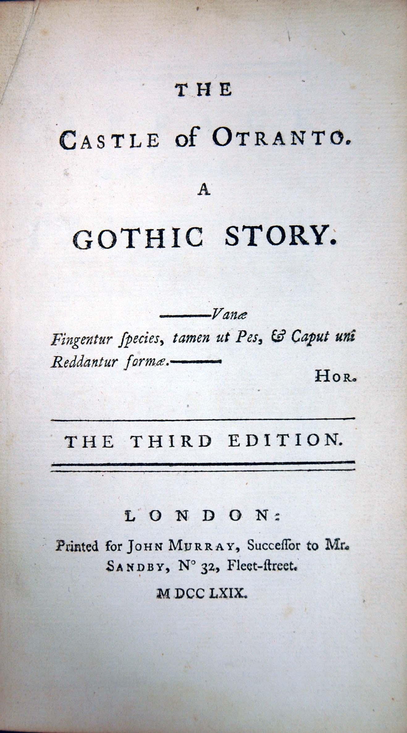gothic novel dissertation