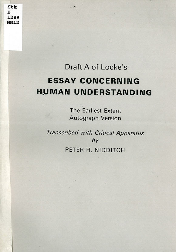cabinet john locke faces of authorship exhibition university  essay concerning human understanding