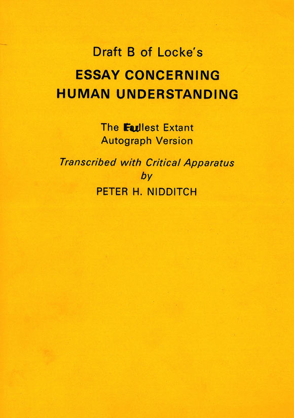 essay concerning the human understanding