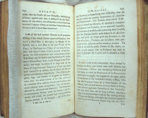 an essay on hume and his belief in miracles Hume's biographers all agree that he was quite ego-centric, and that he wrote his essay to attract attention to himself he did not possess the motives of an objective historian hume wrote in such a sarcastic way that it was often difficult to discern whether or not he was serious.