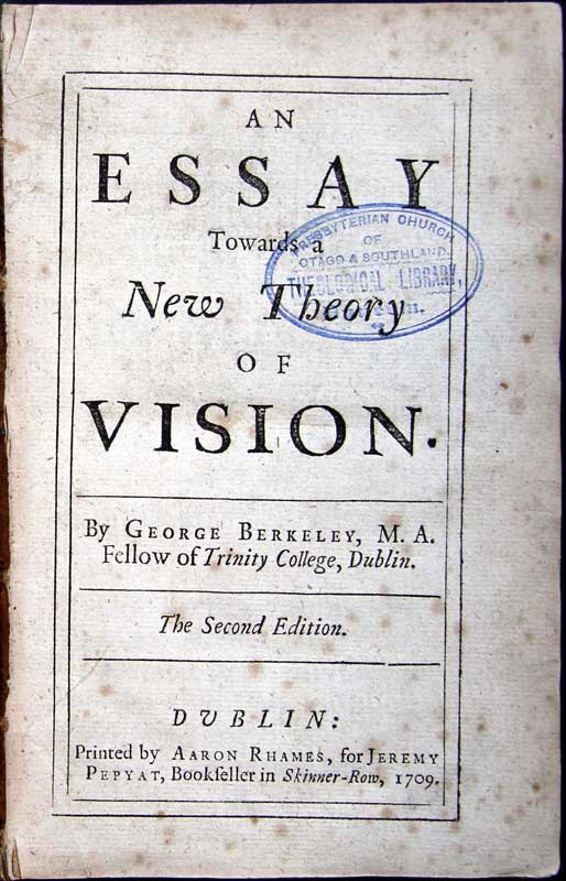 essay towards a new theory of vision berkeley