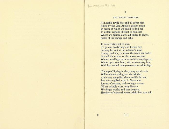 Robert Graves love poems