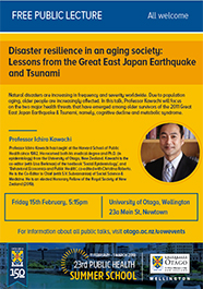 Disaster resilience in an aging society poster thumbnail