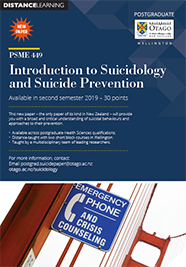 Introduction to Suicidology and Suicide Prevention flyer thumbnail